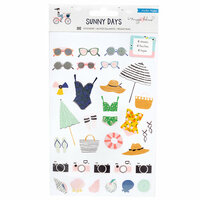 Maggie Holmes - Sunny Days Collection - Clear Sticker Book with Foil Accents