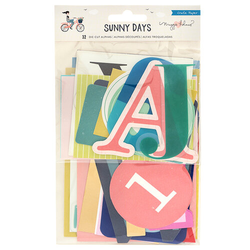 Crate Paper - Sunny Days Collection - Die-Cut Alphas