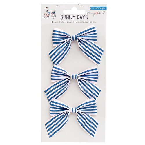 Crate Paper - Sunny Days Collection - Fabric Bows