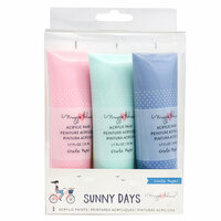 Crate Paper - Sunny Days Collection - Acrylic Paints