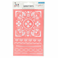 Crate Paper - Sunny Days Collection - Stencils
