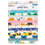 Crate Paper - Sunny Days Collection - 6 x 8 Paper Pad with Foil Accents