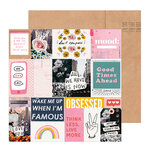 Crate Paper - All Heart Collection - 12 x 12 Double Sided Paper - Collage