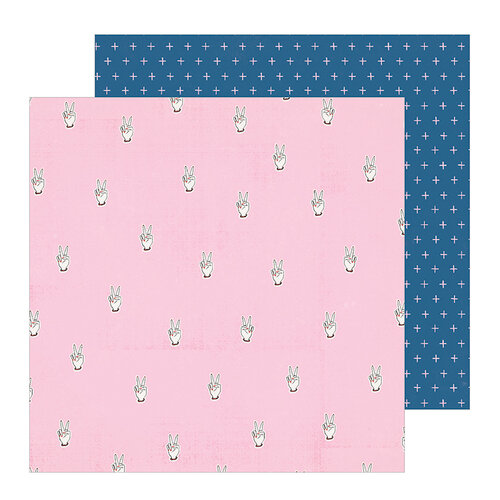 Crate Paper - All Heart Collection - 12 x 12 Double Sided Paper - Peace Out