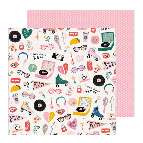Crate Paper - All Heart Collection - 12 x 12 Double Sided Paper - Cute Stuff
