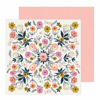 Crate Paper - All Heart Collection - 12 x 12 Double Sided Paper - Wild