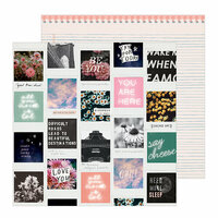 Crate Paper - All Heart Collection - 12 x 12 Double Sided Paper - Selfie