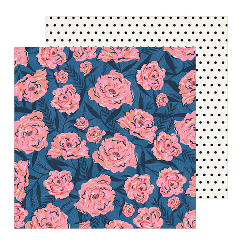 Crate Paper - All Heart Collection - 12 x 12 Double Sided Paper - Wallflower