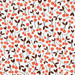 American Crafts - Dear Lizzy Spring Collection - 12 x 12 Double Sided Paper with Glitter Accents - Cheerful Cherry, CLEARANCE