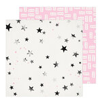 Crate Paper - All Heart Collection - 12 x 12 Double Sided Paper - Star Dust