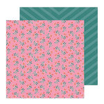 Crate Paper - All Heart Collection - 12 x 12 Double Sided Paper - Rose