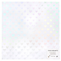 Crate Paper - All Heart Collection - 12 x 12 Double Sided Paper with Foil Accents - Your Heart