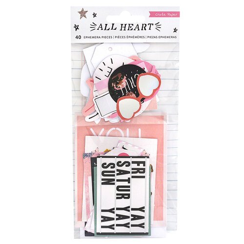Crate Paper - All Heart Collection - Ephemera with Foil Accents