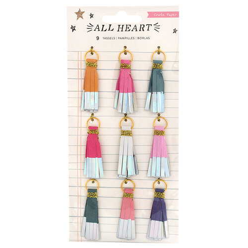Crate Paper - All Heart Collection - Paper Tassels with Foil Accents