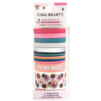 Crate Paper - All Heart Collection - Washi Tape Set with Foil Accents