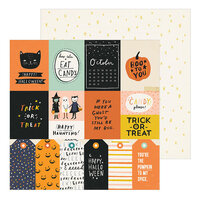 Crate Paper - Hey Pumpkin Collection - 12 x 12 Double Sided Paper - Treats Please