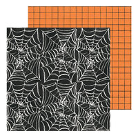 Crate Paper - Hey Pumpkin Collection - 12 x 12 Double Sided Paper - Creepy Crawly