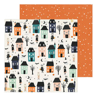Crate Paper - Hey Pumpkin Collection - 12 x 12 Double Sided Paper - Happy Haunting