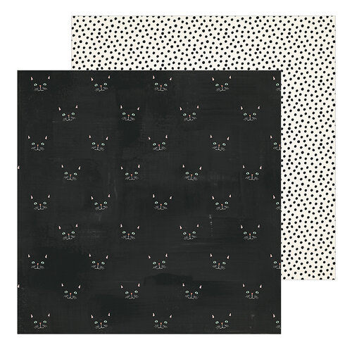 Crate Paper - Hey Pumpkin Collection - 12 x 12 Double Sided Paper - Scaredy Cat