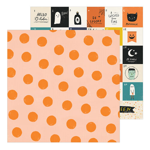 Crate Paper - Hey Pumpkin Collection - 12 x 12 Double Sided Paper - Pumpkin Spice
