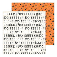 Crate Paper - Hey Pumpkin Collection - 12 x 12 Double Sided Paper - Boo