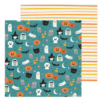 Crate Paper - Hey Pumpkin Collection - 12 x 12 Double Sided Paper - Haunted