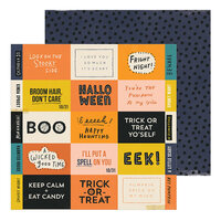 Crate Paper - Hey Pumpkin Collection - 12 x 12 Double Sided Paper - Eeek