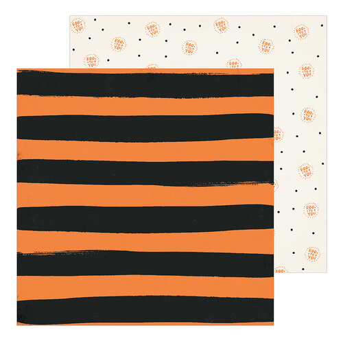 Crate Paper - Hey Pumpkin Collection - 12 x 12 Double Sided Paper - Beware