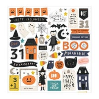 Crate Paper - Hey Pumpkin Collection - 12 x 12 Chipboard Stickers with Silver Glitter Accents