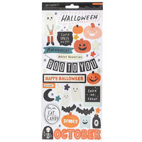 Crate Paper - Hey Pumpkin Collection - 6 x 12 Cardstock Stickers with Holographic Accents