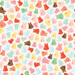 American Crafts - Dear Lizzy Spring Collection - 12 x 12 Double Sided Paper with Glitter Accents - Honeydew Hop, CLEARANCE