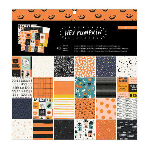 Crate Paper - Hey Pumpkin Collection - 12 x 12 Paper Pad