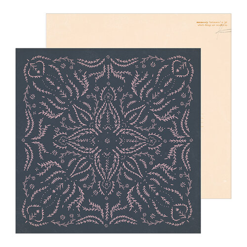 Crate Paper - Heritage Collection - 12 x 12 Double Sided Paper - Embroidered