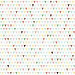 American Crafts - Dear Lizzy Spring Collection - 12 x 12 Double Sided Paper with Glitter Accents - Beehive Brunch, CLEARANCE
