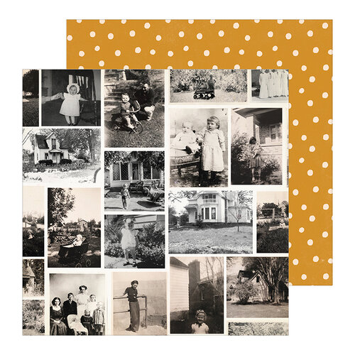Crate Paper - Heritage Collection - 12 x 12 Double Sided Paper - Generations