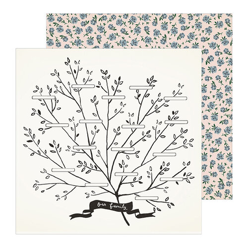 Crate Paper - Heritage Collection - 12 x 12 Double Sided Paper - Family Tree