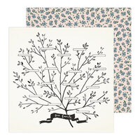 Maggie Holmes - Heritage Collection - 12 x 12 Double Sided Paper - Family Tree