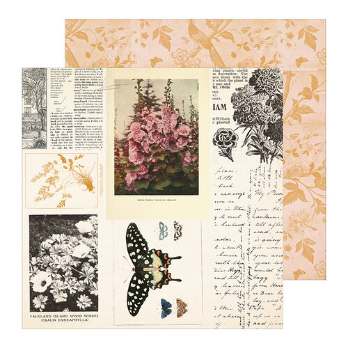 Crate Paper - Heritage Collection - 12 x 12 Double Sided Paper - Keepsake
