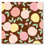 American Crafts - Dear Lizzy Spring Collection - 12 x 12 Fabric Paper - Apricot Afternoon, CLEARANCE