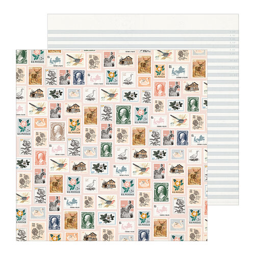 Maggie Holmes - Heritage Collection - 12 x 12 Double Sided Paper - Postmarked