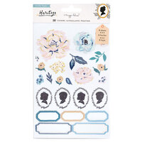 Crate Paper - Heritage Collection - Clear Sticker Book with Gold Foil Accents