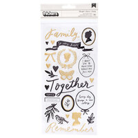 Crate Paper - Heritage Collection - Thickers - Phrase - Heartfelt - Puffy - Gold Foil