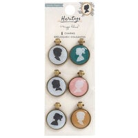 Crate Paper - Heritage Collection - Portrait Charm Embellishments