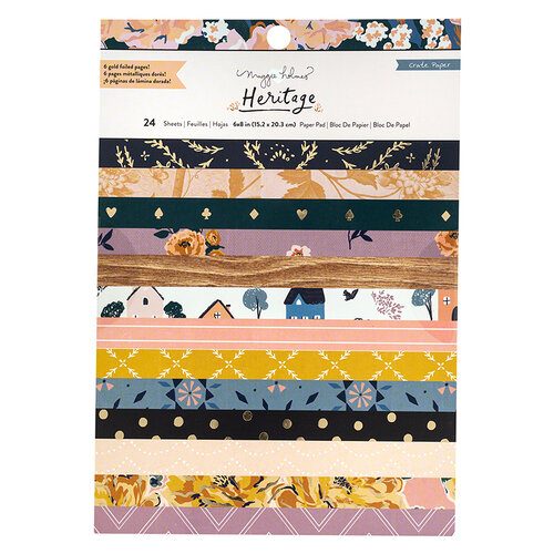 Crate Paper - Heritage Collection - 6 x 8 Paper Pad with Foil Accents