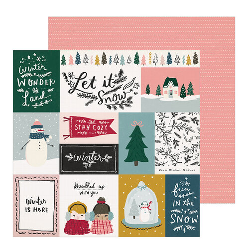 Crate Paper - Snowflake Collection - 12 x 12 Double Sided Paper - Bundled