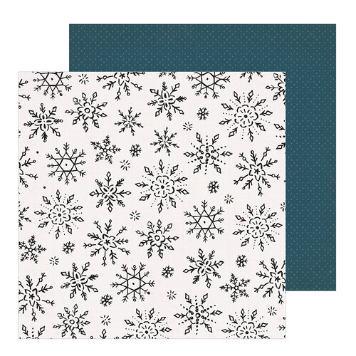 Crate Paper - Snowflake Collection - 12 x 12 Double Sided Paper - Winterscape