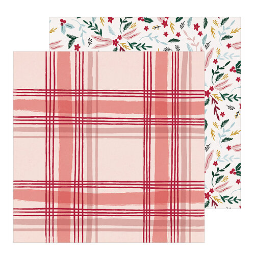 Crate Paper - Snowflake Collection - 12 x 12 Double Sided Paper - Cabin