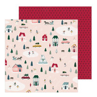 Crate Paper - Snowflake Collection - 12 x 12 Double Sided Paper - Village