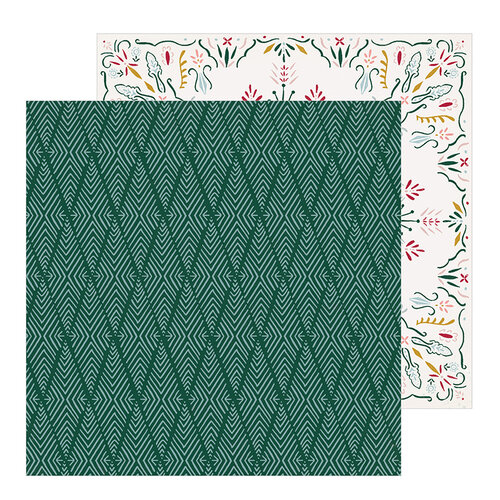 Crate Paper - Snowflake Collection - 12 x 12 Double Sided Paper - Icicles