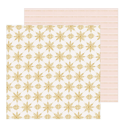 Crate Paper - Snowflake Collection - 12 x 12 Double Sided Paper - Snowcapped